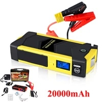 20000mah car jump starter power bank portable charger 4 usb car battery power bank with lcd screen led flashlight safety hammer