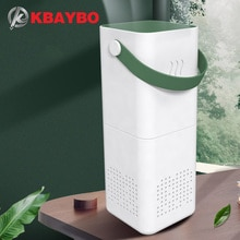 Purificador de aire USB KBAYBO para el hogar, filtros de 3 capas, purificadores, filtración de iones negativos, purificador de aire, limpiador de aire, esterilización para el coche