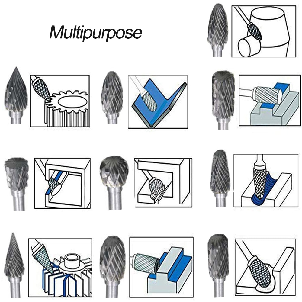 10tk varre volframkarbiidist freeslõikur pöörleva tööriistaga, - Abrasiivtööriistad - Foto 6