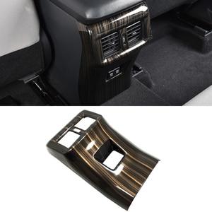 Car Air Vent Cover Trim Peach Wood Look Rear Seat ABS Plastic Air Vent Cover Trims for Toyota Rav4 2019 2020