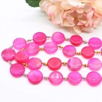 2strandslot 23mm natural rose powder glossy round agate for jewelry making diy necklace bracelat loose 15 free shipping