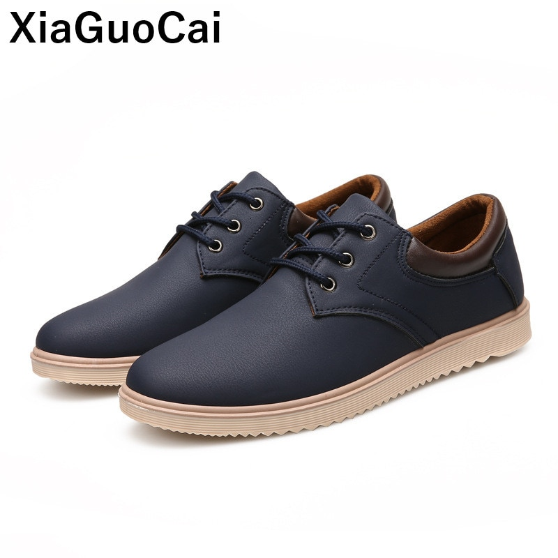 Spring Autumn Men Leather Casual Shoes Waterproof Breathable Tooling Male Footwear Fashion New Arriv