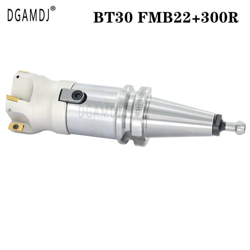 Bt30 FMB22 مقبض 45L 60L + 300R CNC ماتشينج مركز مخرطة أداة حامل الوجه الطحن القاطع bap 300r 50/63 مللي متر الوجه مطحنة قذيفة أربور