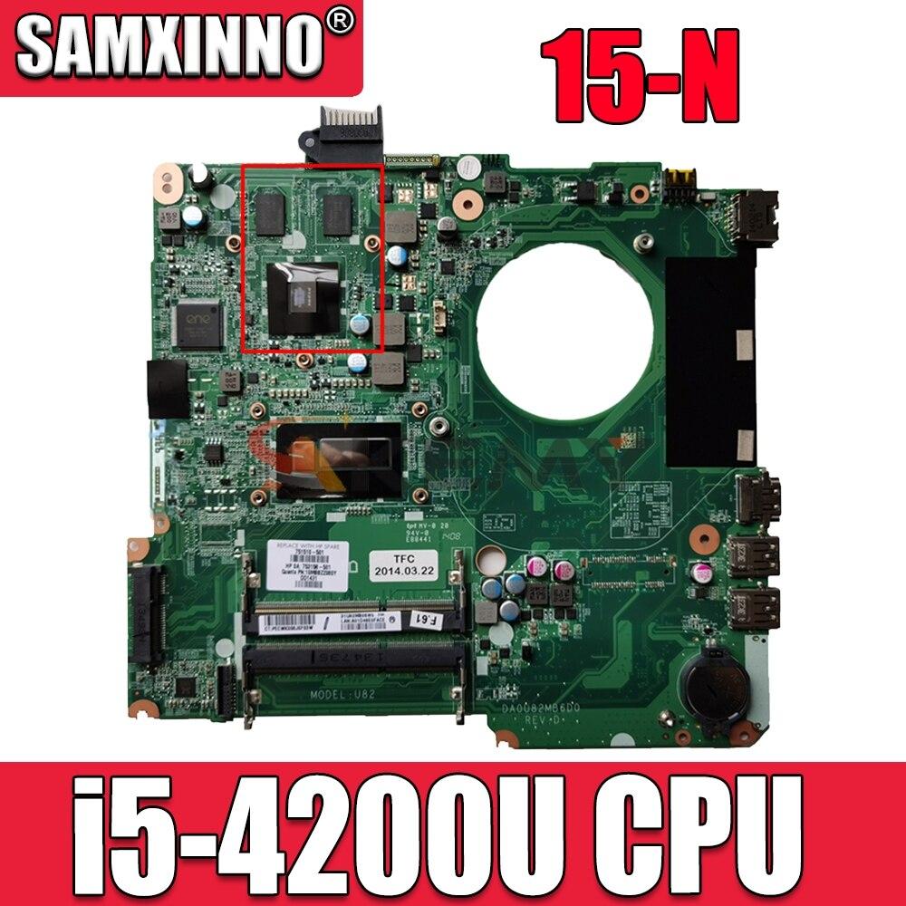 736377-001 736377-501 ل HP 15 سلسلة 15-n005TX اللوحة المحمول DA0U82MB6D0 SR170 i5-4200U 100% اختبار