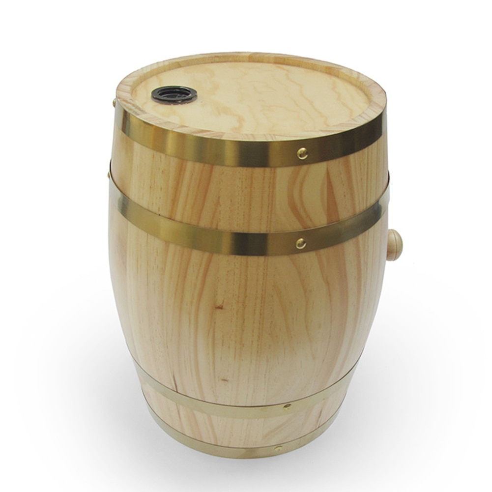 3L Wine Barrel Wooden For Whiskey Hotel Vintage Storage Restaurant Decoration Port Bucket With Stand Beer Brewing Display Rum