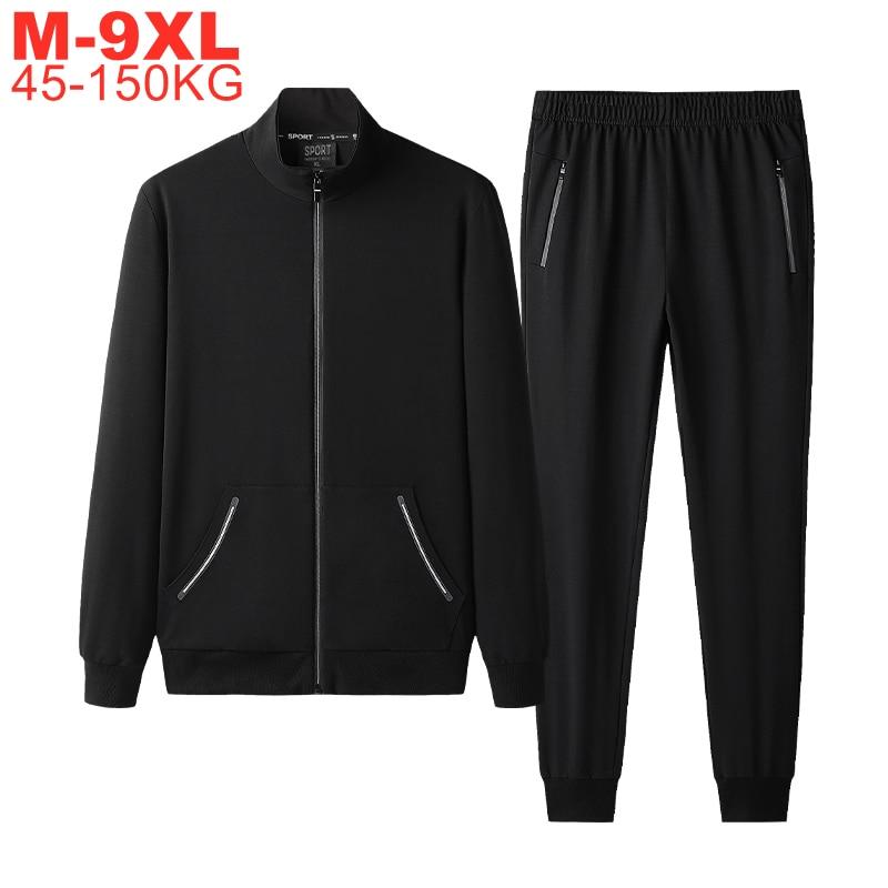 Autumn Sportswear Tracksuits Men Sets Large Size Men's Clothing Jacket+pants 2 Pieces Sports Set Plus Size 8xl 7xl Tracksuit Man