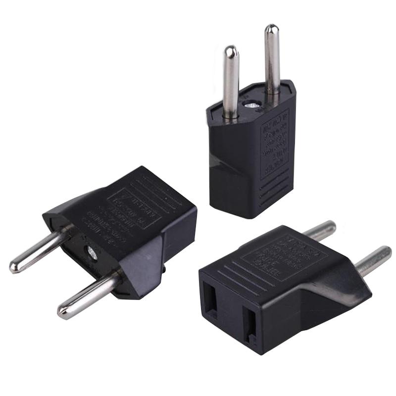 EU to USA European Conversion Plug Adapter Socket Portable 2Pin Black Travel Adapter Converter Power