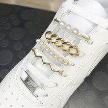 Scarpe accessori per donna Sneaker gioielli lacci delle scarpe fibbia chiusura in pizzo in metallo kit Sneaker fai-da-te clip per scarpe in metallo con fiori