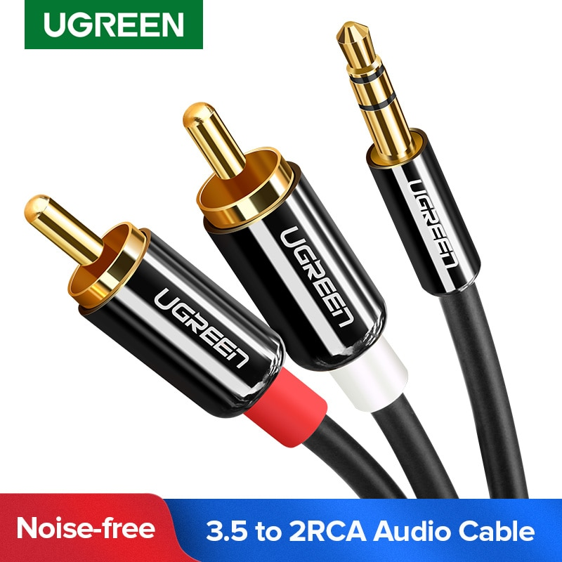 UGREEN 3.5mm to 2RCA Audio Auxiliary Adapter Stereo 3.5 mm Splitter Cable AUX RCA Y Cord for Smartph