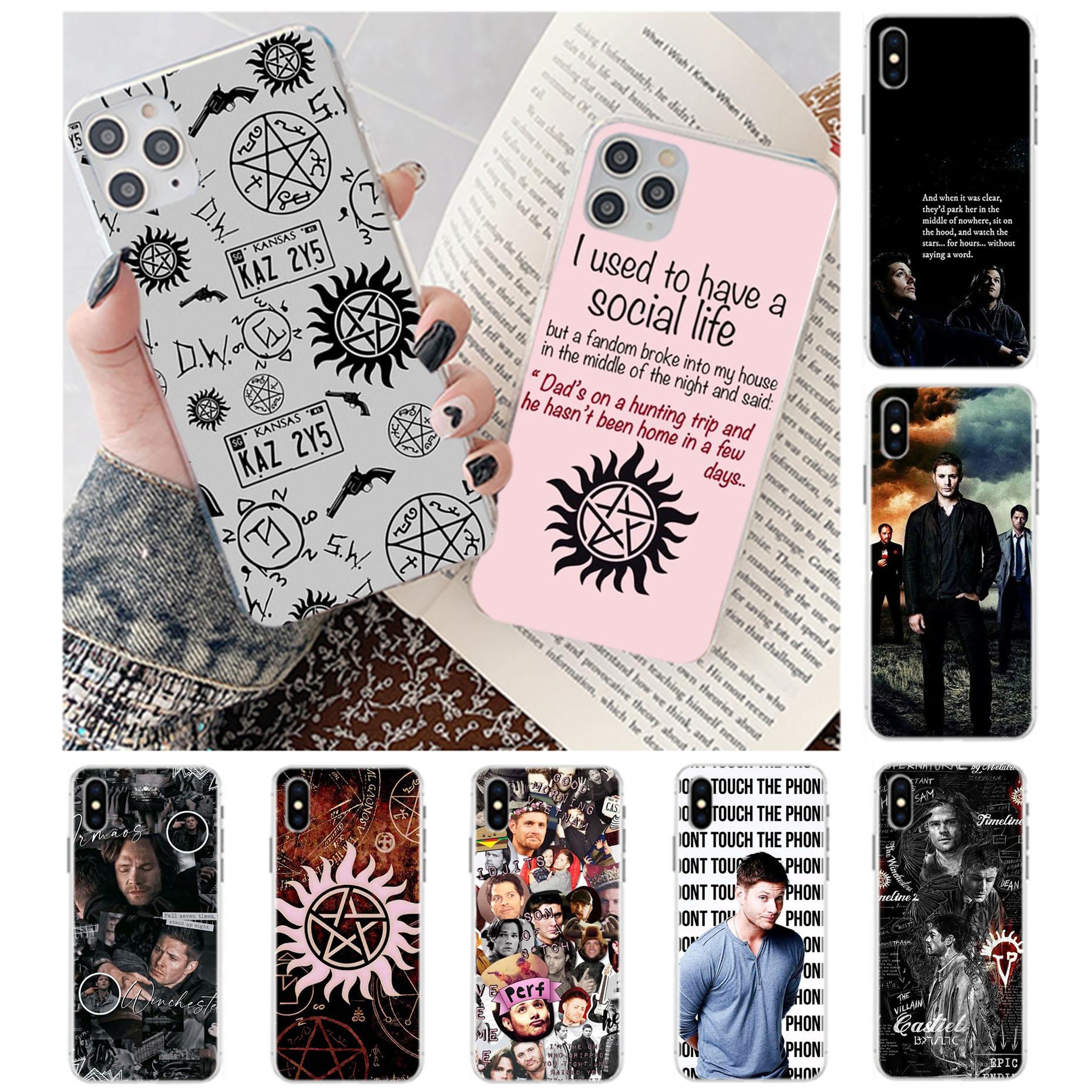 Print Supernatural Spn Dean And Sam Telephone Transparent Case For Iphone 7 8 Plus X Xs Max Xr 11 12