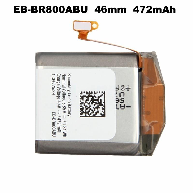 Original Samsung Battery EB-BR800ABU for Samsung Gear S4 SM-R810 42mm SM-R800 46mm SM-R805 R800 R810 R805 Smart Watch 472mAh enlarge