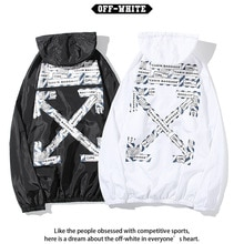 Chao brand off white sunscreen clothes men's and women's loose thin summer printed couple's Hooded J