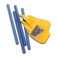 1 pair of oars rubber canoes lifeboats leisure rowing accessories kayak paddles removable and assembled water sports accessories