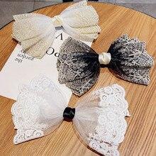Pinces à cheveux en mousseline de soie pour femmes et filles, élégantes, avec grand nœud, bandeau doux, ornement, épingles à cheveux, Barrettes, accessoires de mode