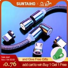 Suntaiho 540 rotation câble magnétique Micro USB Type C câble pour iPhone câble de charge aimant chargeur câble pour Xiaomi