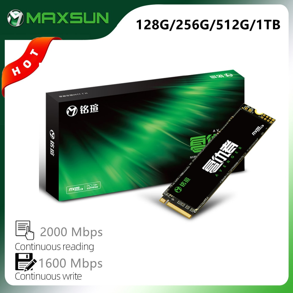 MAXSUN M.2 2280 SSD 128GB 256GB 512GB 1 تيرا بايت ثلاثية الأبعاد NAND فلاش محركات أقراص الحالة الصلبة الداخلية Gen3 x 4 M.2 كمبيوتر محمول سطح المكتب التخزين الداخلي