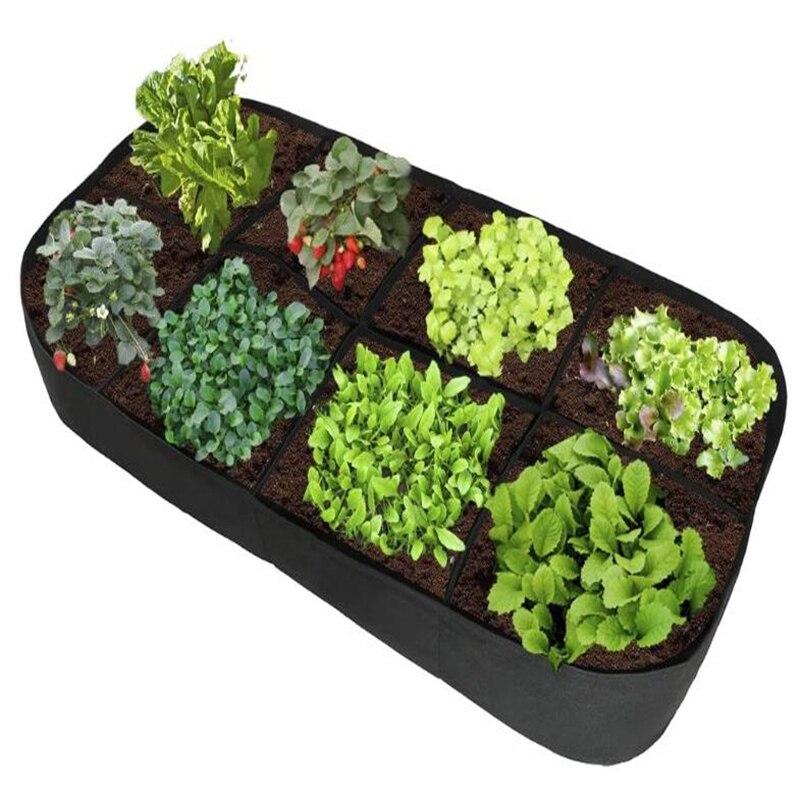 مستطيل حديقة تنمو حقيبة حديقة جاردين جارديناج أوغرود أثار النبات السرير أصيص أزهار الحدائق مرتفعة صندوق للخضراوات