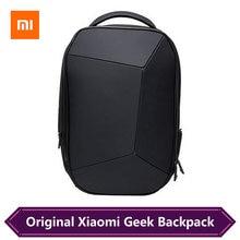 Xiaomi Geek sac à dos géométrique épissage ergonomique réfléchissante conception hommes ordinateur portable sac daffaires voyage sac à dos Dropshipping