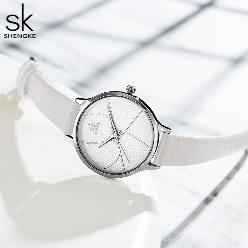Shengke Simple Women Watches Ladies Casual Leather Quartz Watch Female Clock Relogio Feminino Montre Femme Zegarek Damski 2019 enlarge