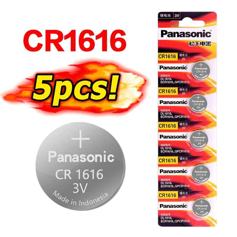 5 unids/lote PANASONIC CR1616 DL1616 ECR1616 LM1616 1616 3V baterías de litio Botón de pila de moneda compatible con reloj