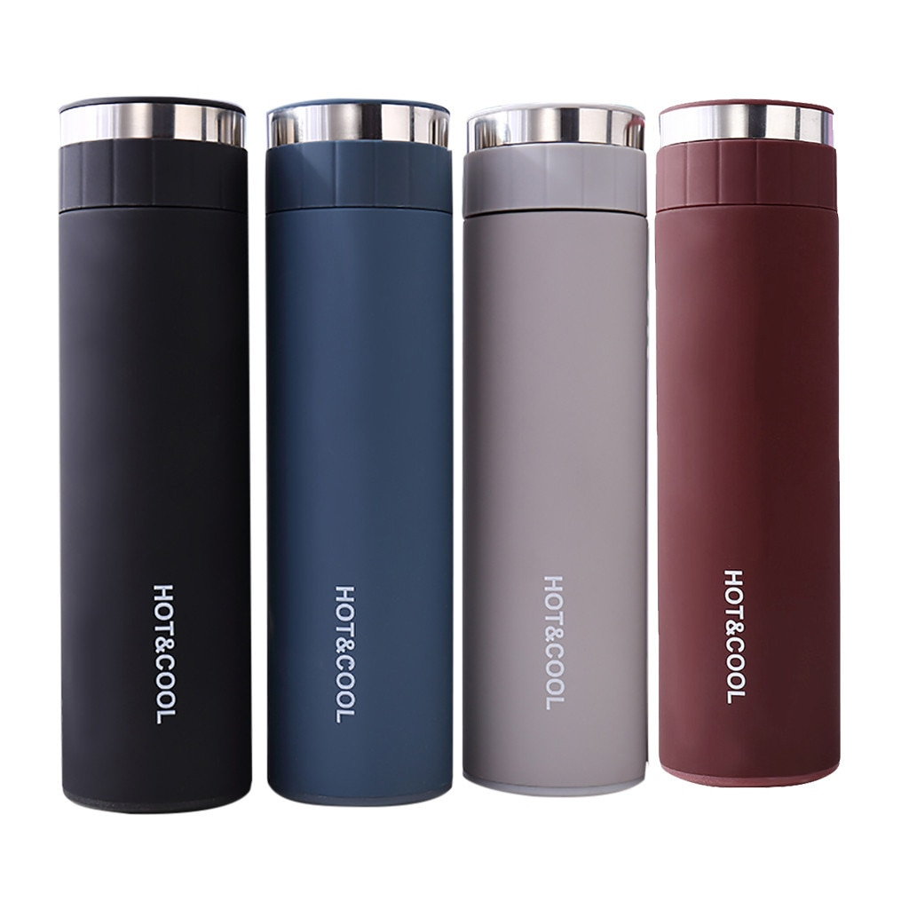 Stainless Steel Water Bottle Double Wall Vacuum Insulated Sports Thermos Leak Proof, Double Walled,