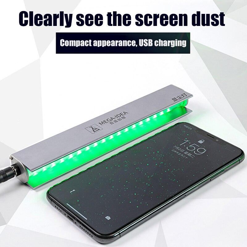 Лампа для проверки пыли с ЖК-экраном, сканирующий сканер отпечатков пальцев, светильник для обнаружения царапин, инструменты для ремонта экрана мобильного телефона ноутбука