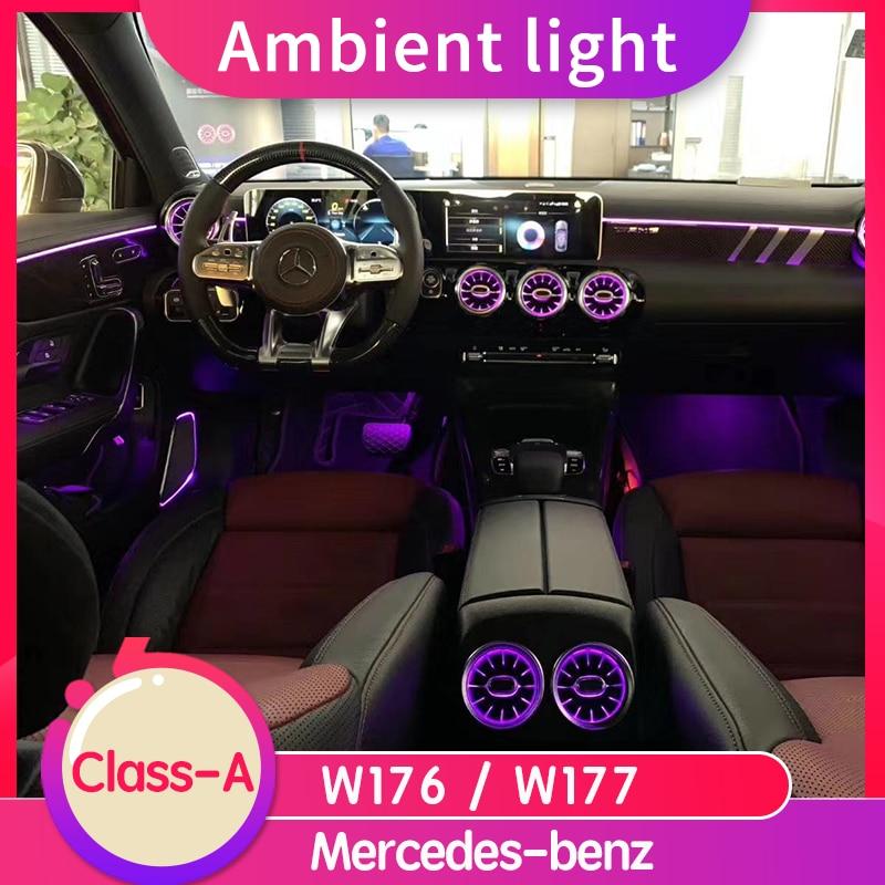 مصباح توربين LED دوار لمرسيدس بنز الفئة A ، مصباح ديكور للتهوية للسيارة W177/W176 A200L/A180L ، ملحقات السيارة