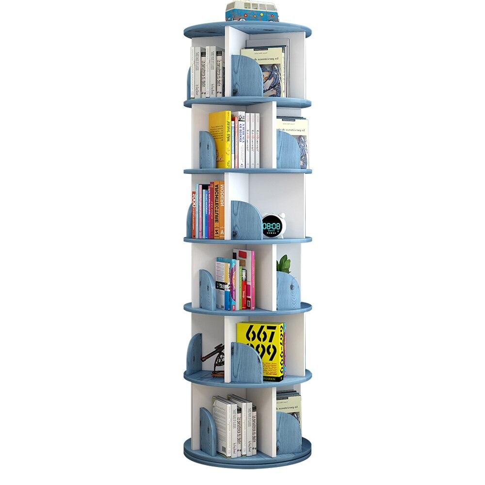 تصميم جديد غرفة حديثة بسيطة المنزلية الموفرة للمساحة الإبداعية خزانة الكتب الدائرية الأطفال الدورية رف الكتب