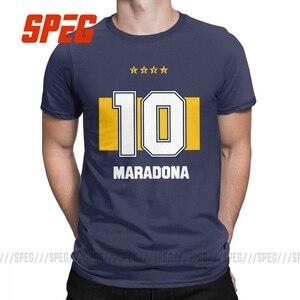 Марадона Футболка мужская 100% хлопок Веселая Футболка круглый вырез горловины руки Бог футболки с коротким рукавом Одежда размера плюс