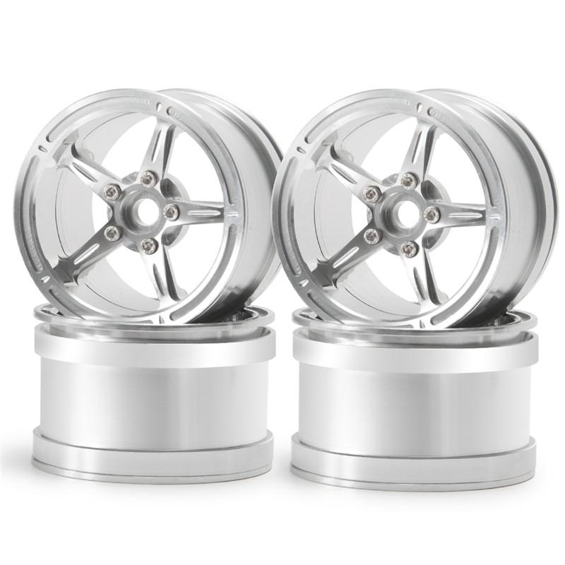 2.2 Inch Metal Beadlock Wheel Rims Silver for Rc Car TRX4 SCX10 II Wraith 90048 RR10 RC Rock Crawler