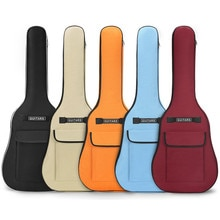 40/41 Inch Oxford Fabric Acoustic Guitar Gig Bag Waterproof Backpack 5mm Cotton Double Shoulder Stra