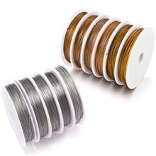 1 Roll/Veel 0.3/0.45/0.5/0.6 Mm Slip Sterke Lijn Roestvrij Staaldraad Tiger Tail kralen Draad Voor Sieraden Maken Vinden