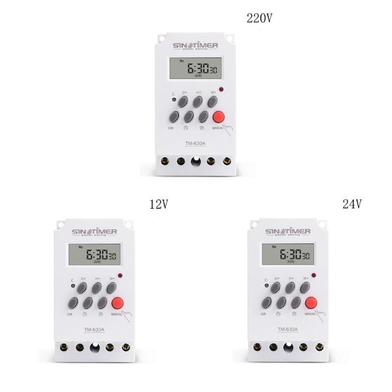 Mini temporizador interruptor tiempo relé 12/24/220V entrada CC 7 días programable 24 horas