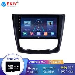 """Ekiy 9 """"8 núcleo android 9.0 rádio do carro para renault kadjar 2016 2017 suporte espelho ligação swc volante controle rds dsp wifi/4g"""