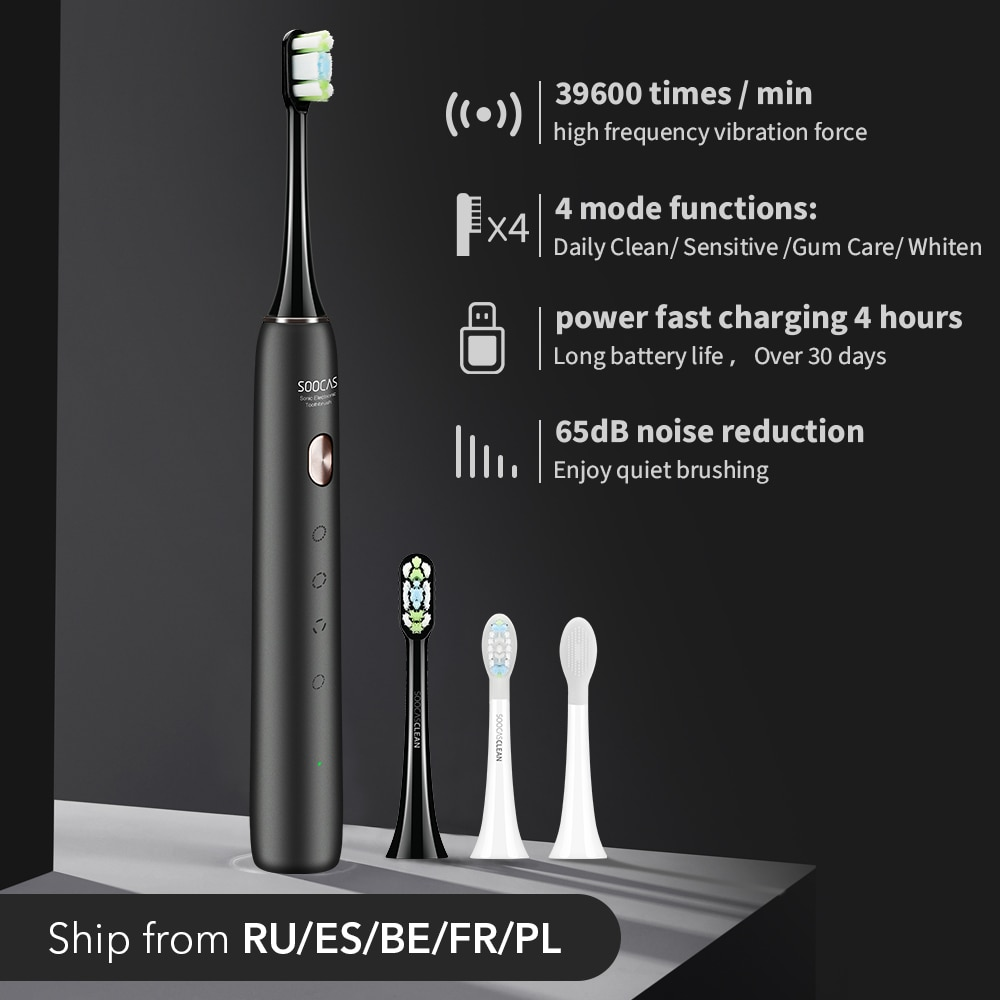 SOOCAS X3U Sonic Electric Toothbrush Xiaomi Mijia Ultrasonic Automatic Upgraded Fast chargeable Adul