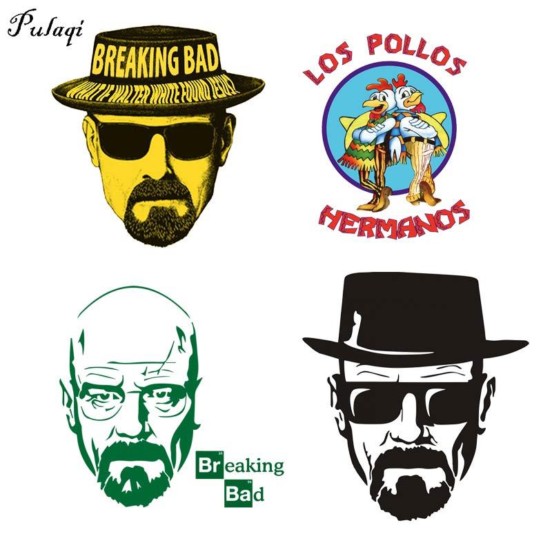 Модная футболка с надписью «Breaking Bad Iron-On Transfers» для одежды LOS POLLOS Hermanos Heat Transfers Chicken Brothers, хипстерские наклейки