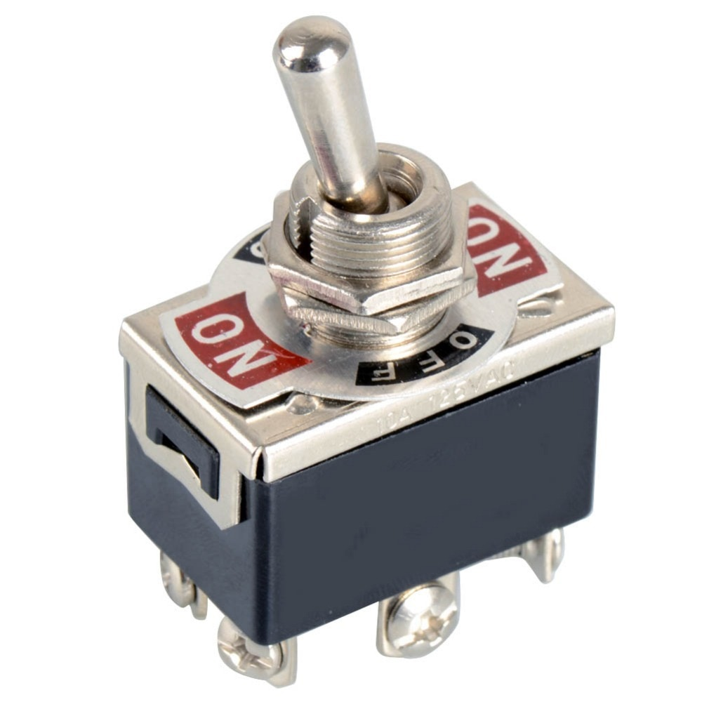 Preto 6-Pin Alternância DPDT ON-OFF-ON Interruptor 15A 250V Mini Switches VE066 P0.11