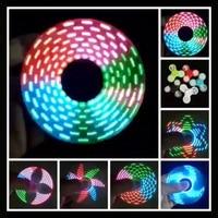 Светящийся Спиннер из АБС-пластика со светодиодсветильник кой, ручные Спиннеры, светящиеся в темноте, игрушки для снятия стресса EDC, кинетич...