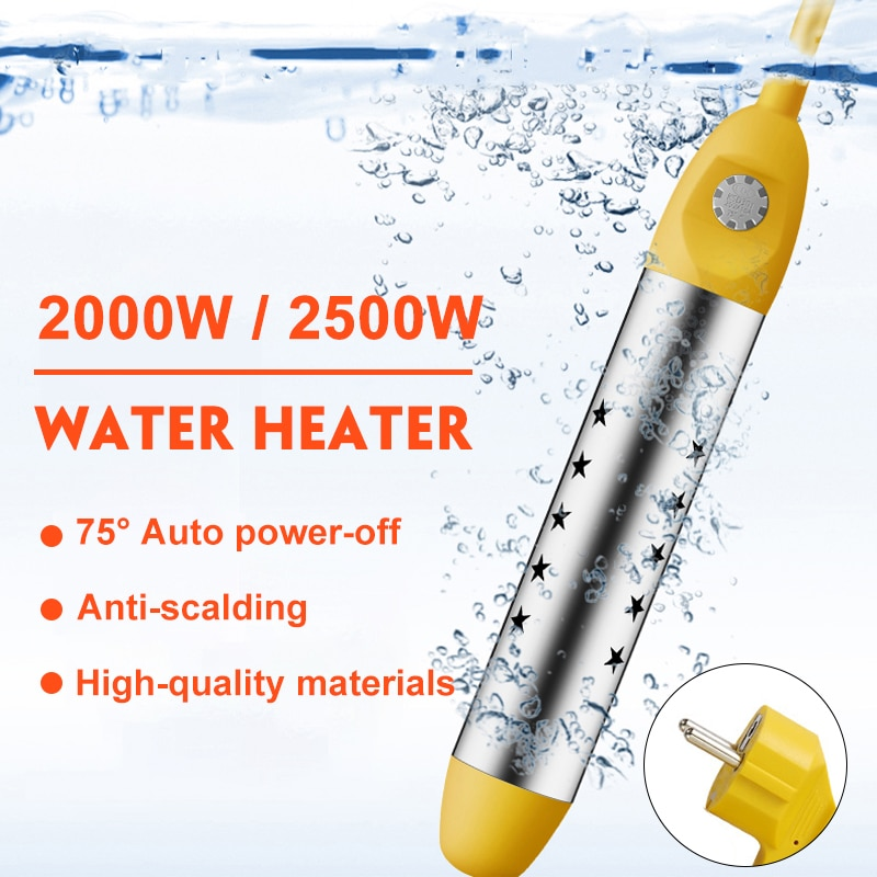 2000 - 2500W EU 220V Floating Electric Water Heater Boiler Water Heating Portable Immersion Suspensi
