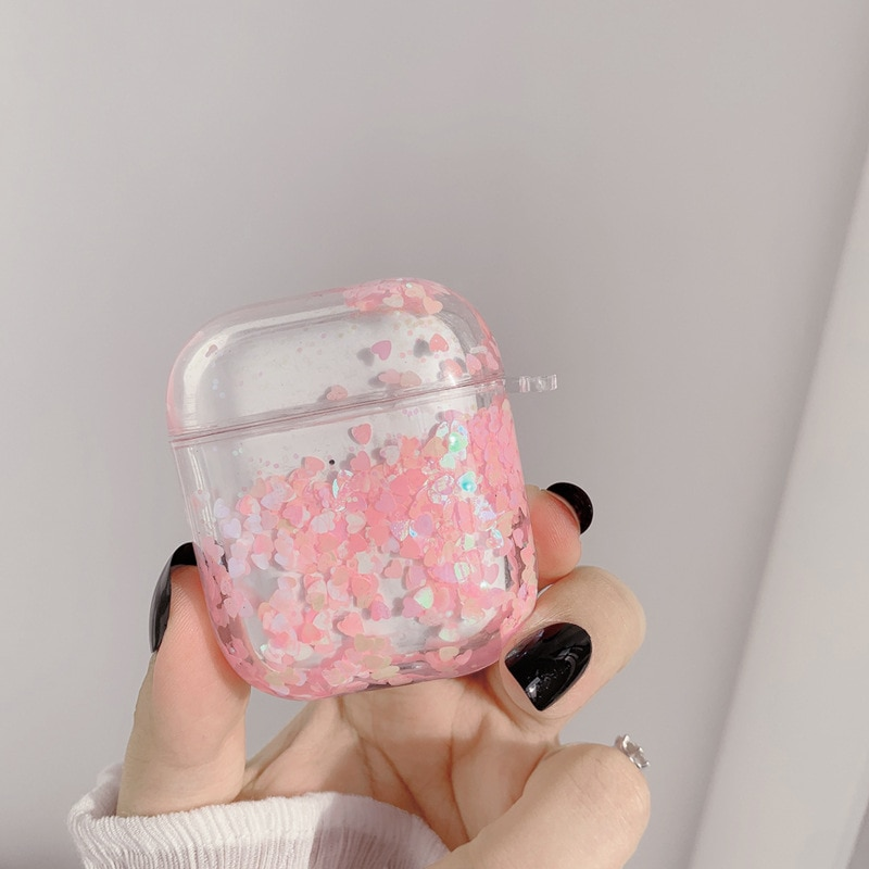 For Airpods1/2 generation earphone protective cover silicone bluetooth earphone cover soft shell cute ins Pink girl enlarge