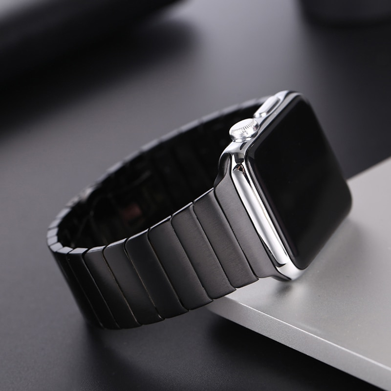 2 pcs strap for apple watch band 44 mm 40mm iwatch band 42mm 38 mm stainless steel bracelet milanese loop apple watch 4 5 3 2 1 Stainless Steel strap for Apple Watch band 44 mm 40mm iWatch band 42mm/38mm Butterfly buckle Metal Bracelet Apple watch 7 5 4 3