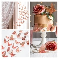wedding decorations 12pcs 3d hollow butterfly wall stickers bridal shower bride to be birthday bachelorette party diy supplies