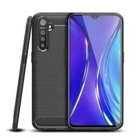 realme x2 phone case for oppo realme x2 case bumper on cover carbon fiber soft silicon anti knock case for realme xt capa