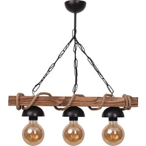 All Home Wood Rope 3 PCs Rustic Chandelier Lighting Light Stylish Retro Living Room Home Decor Lamps Bedroom