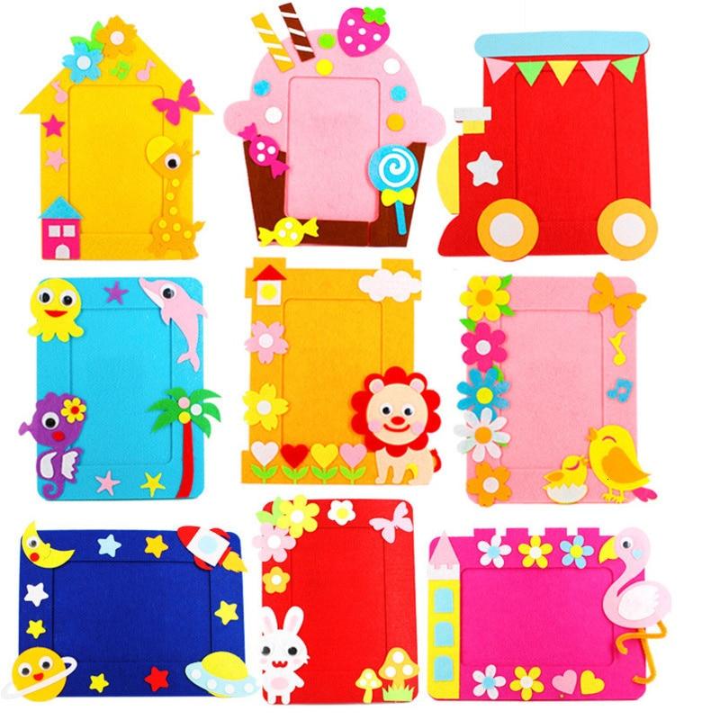 Нетканая рамка для картин, 3D фотография, Детские нетканые наклейки, игрушки ручной работы «сделай сам», Материалы для творчества, игрушки ру...