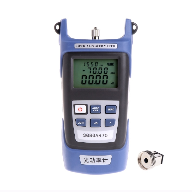 Alto de precisión óptica medidor de potencia de fibra de herramientas de pruebas cableado luz probador de decaimiento-70 ~ + 3dbm