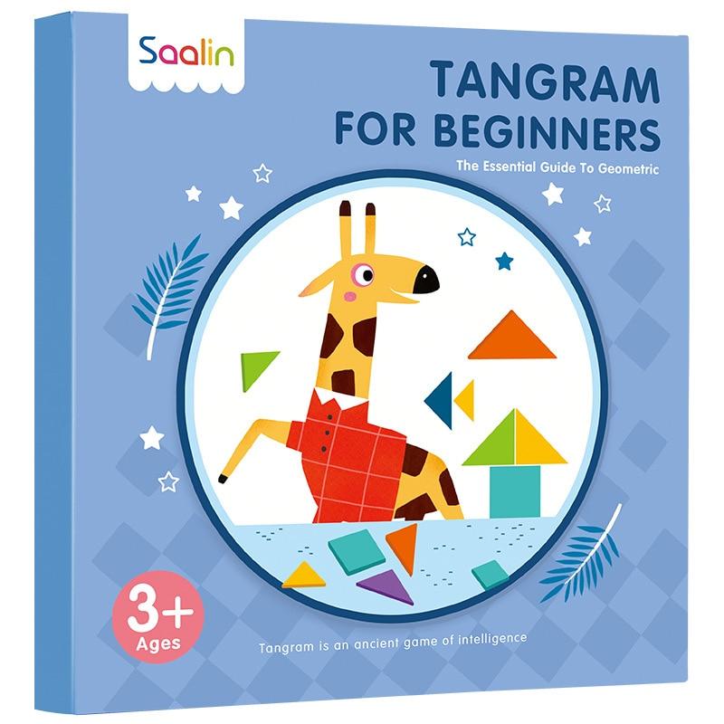 Rompecabezas Montessori magnético Speelgoed Tangram alfabeto animales libro magnético portátil niños forma geométrica juguete educativo