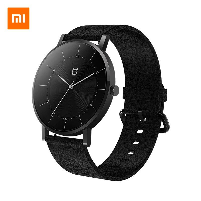 Relógio de Quartzo Relógio de Pulso Clássico de Aço Pulseira de Couro para Homens e Mulheres Versão de Luxo Xiaomi Mijia Inoxidável Impermeável 3atm mi 316l