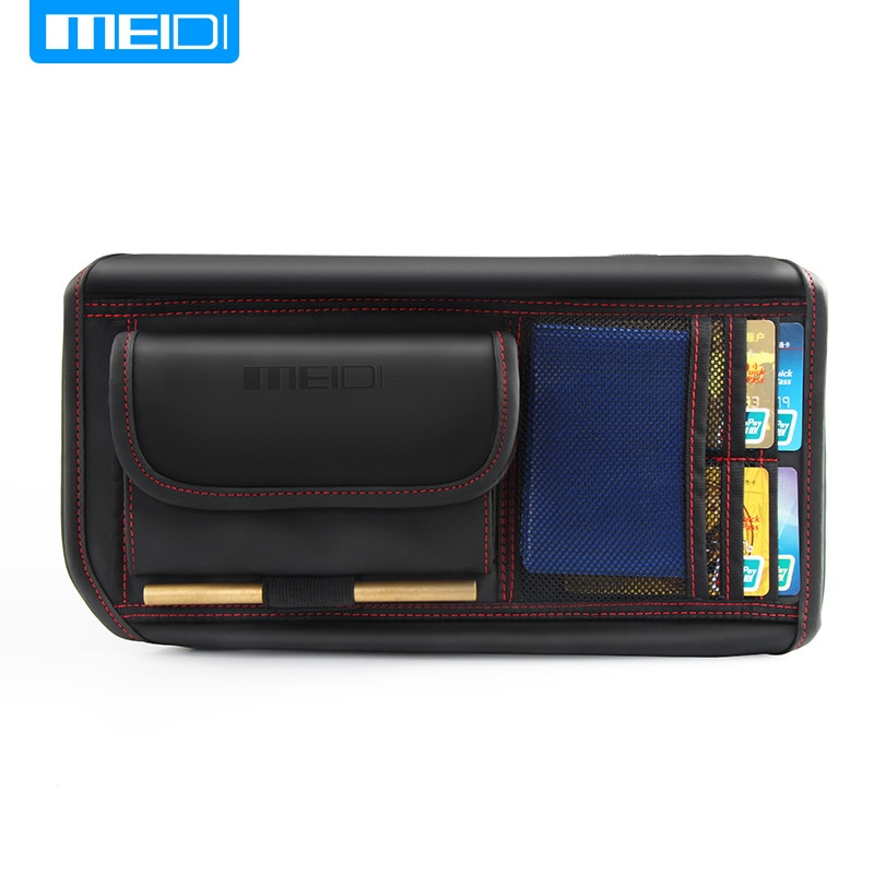 MIEDI Car Sun Visor Storage Bag Car Boot Organizer Storage Holder Multi-Use Tools Organizer For IC Card Mobile Phone Sun glass