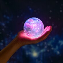 2021 New Dropship 3D Print Galaxy Lamp As Like Moon Lamp Best Christmas Lights Night Light In Room S